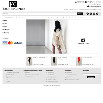 Design site vanzari online - Fashion corner