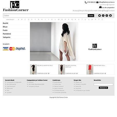 Design site vanzari online - Fashion corner