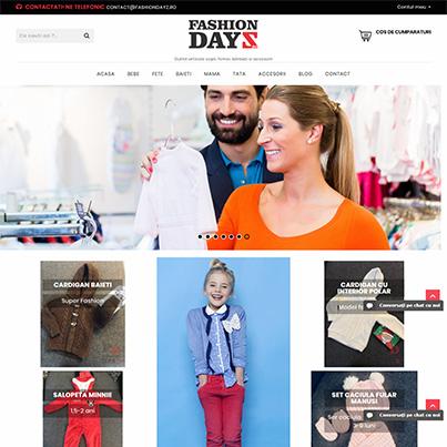 Design site web vanzari online outlet imbracaminte si accesorii - Fashion Dayz