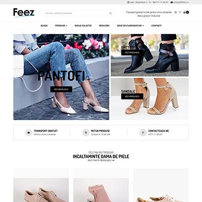 Design site web vanzari online incartaminte dama din piele - www.feez.ro