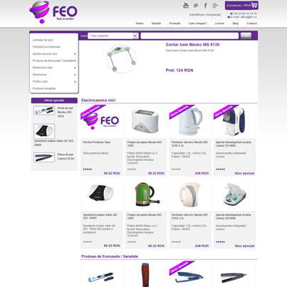 Design site comert electronic FEO