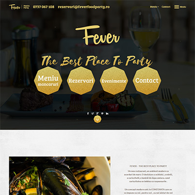 Creare site web de prezentare restaurant - Fever