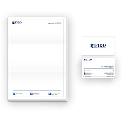 Design identitate companie firma consultanta financiara - Fido