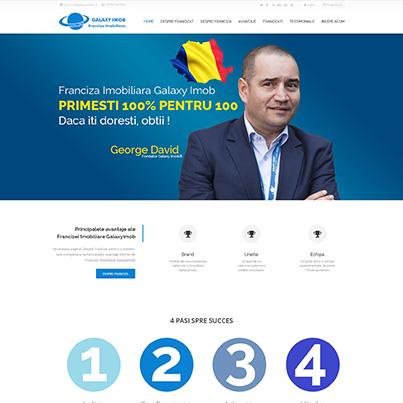 Creare site web de prezentare franciza imobiliara Galaxy Imob