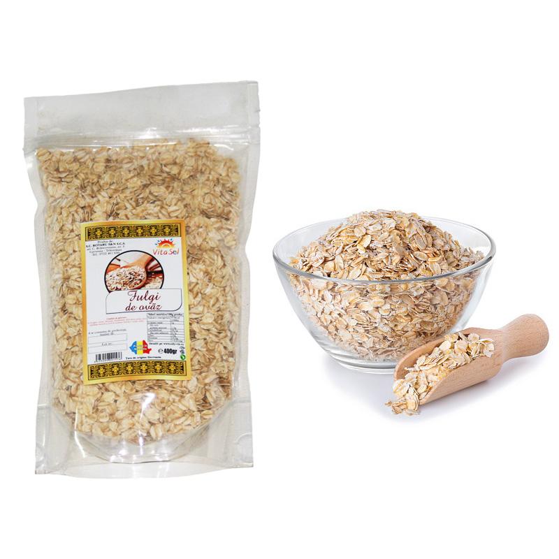 Design eticheta producator fulgi cereale - ovaz - Vita Sol