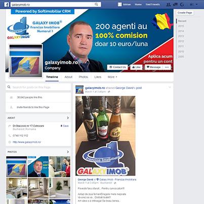 Design pagina facebook franciza imobiliara Galaxy Imob