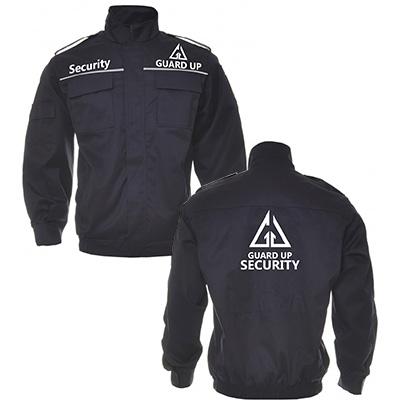 Design personalizare echipament de lucru - companie de securitate Guard Up