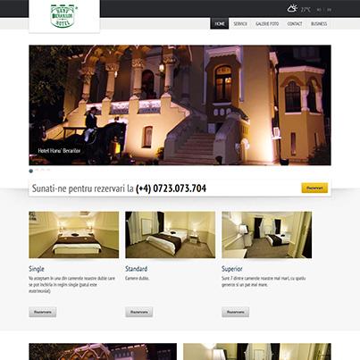 Design site web de prezentare hotel - Hanu Berarilor