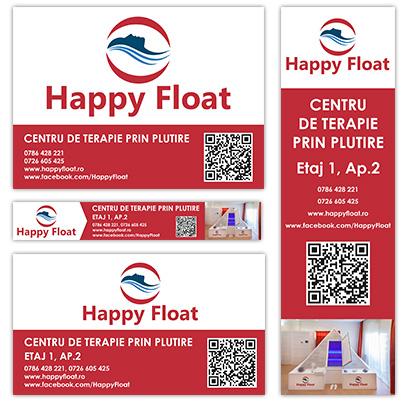 Realizare design banner publicitar - Centru de terapie prin plutire Happy Float