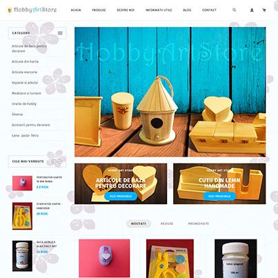 Realizare site web vanzari online produse creativ hobby art