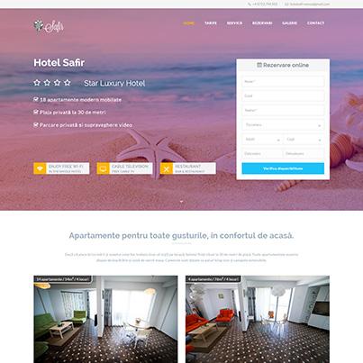 Design site web de prezentare hotel - Safir