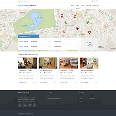 Creare site web de prezentare agentie imobiliara Imobiliare Titan