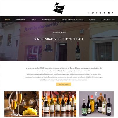 Design site web prezentare vinoteca targu mures