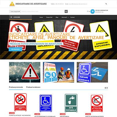 Realizare site web comert online produse fotoluminiscente de avertizare