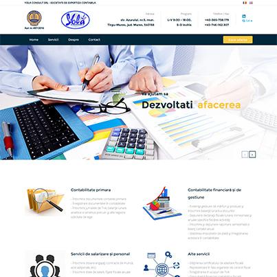 Design site web de prezentare societate de expertiza contabila - Yola Consult