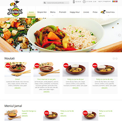 Design site platforma comenzi online mancare jamaicana - JamalFood