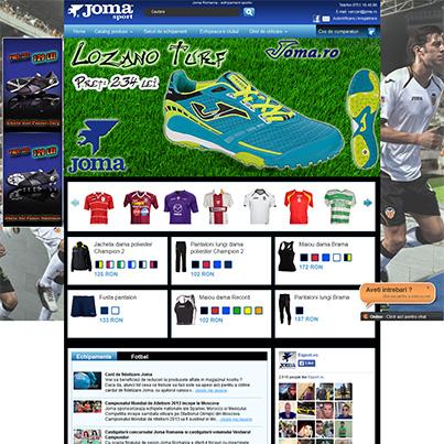 Design site ecommerce articole sportive JOMA