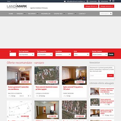 Terenuri Timisoara - site web al agentiei imobiliare Landmark Imobiliare din Timisoara realizat pe platforma Softimobiliar CRM