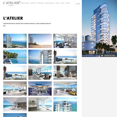 Creare site web de prezentare complex rezidential de lux LAtelier Miami Beach