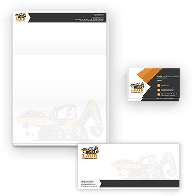 Design identitate companie firma constructii - Laur Construct