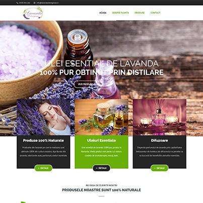 Design site web producator produse lavanda - Lavanda Dobrogeana