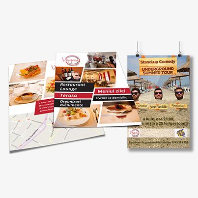 Design brosura si flyere restaurant Lesquina