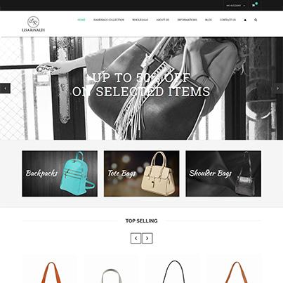 Design site web vanzari online genti de dama - Lisa Rinaldi