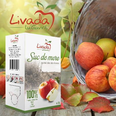 Design ambajaj suc de mere - Livada lu Gavril