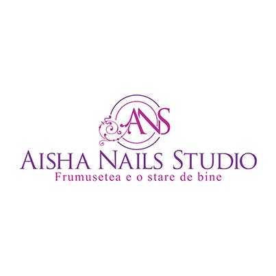 Design logo studio manichiura pedichiura Aisha Nails Studio