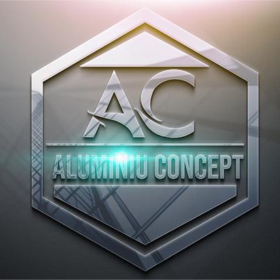 Design logo 3D producator tamplarie aluminiu - Aluminiu Concept