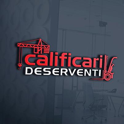Design logo 3D cursuri calificare profesionala - Calificari Deserventi
