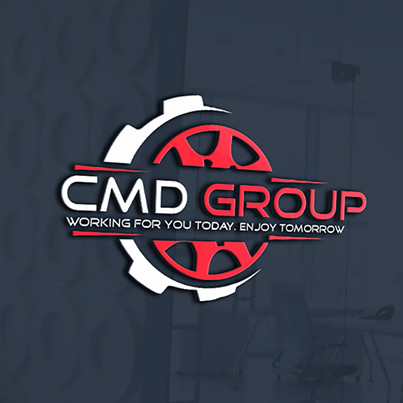 Design logo 3D companie constructii - CMD Group