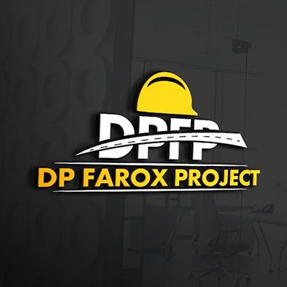 Design logo 3D firma constructii drumuri - DP Farox Project