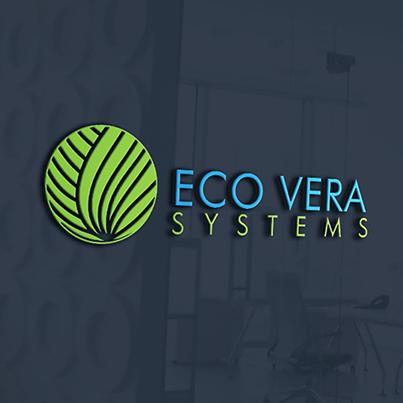 Design logo 3D distribuitor sisteme de epurare ecologice - Eco Vera Systems