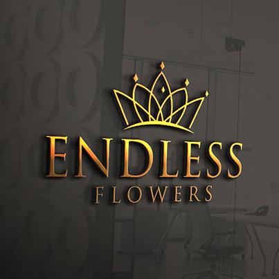 Design logo 3D florarie artizanala - Endless Flowers