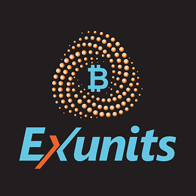 Design logo platforma internationala de tranzactionare Bitcoin - Exunits