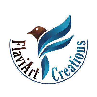Design logo artist plastic si designer de bijuterii - Flaviart Creations