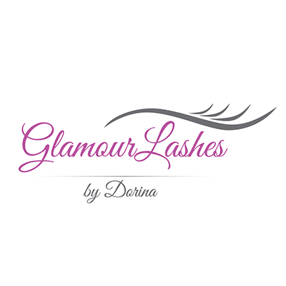 Design logo salon aplicare extensii gene false - Glamour Lashes