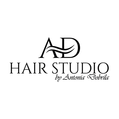 Design logo salon coafura - Hair Studio by Antonia Dobrila