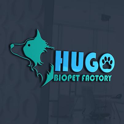 Design logo 3D producator hrana animale - Hugo