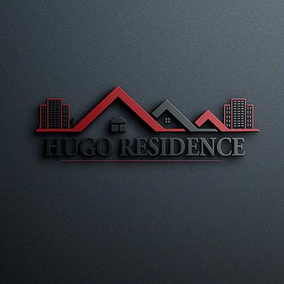 Design logo 3D dezvoltator imobiliar - Hugo Residence