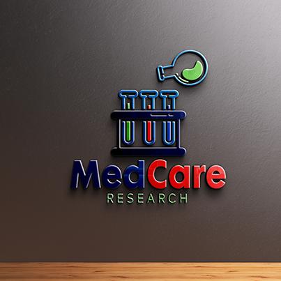 Design logo 3D consultanta farmaceutica - Medcare Research