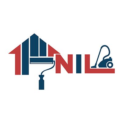 Design logo curatenie profesionala dupa constructii - Nil