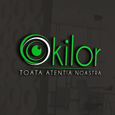 Design logo 3D clinica oftalmologie - Okilor