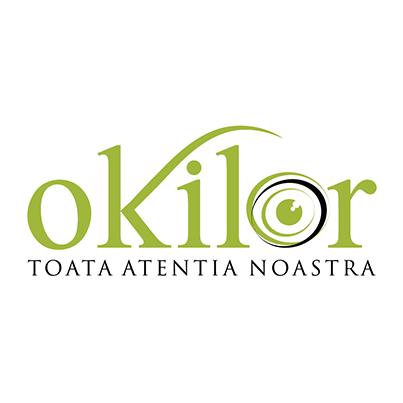 Design logo cabinet de optica si oftalmologie - Okilor