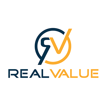 Design logo firma evaluari imobiliare - Real Value