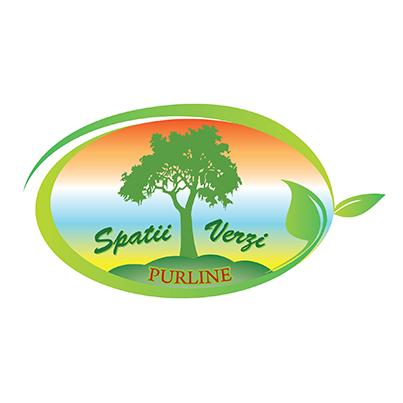 Design logo firma intretinere si amenajare peisagistica a spatiilor verzi, parcurilor si scuarurilor - Purline