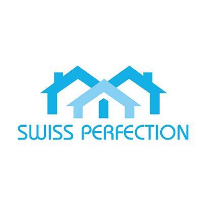 Design logo companie elvetiana constructii - Swiss Perfection
