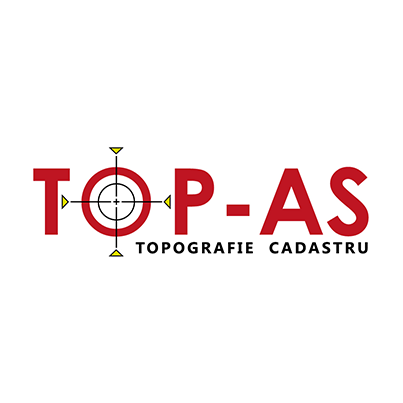 Design logo firma topografie si cadastru - Top As