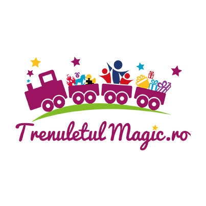 Design logo magazin online jocuri si jucarii pentru copii - www.trenuletulmagic.ro